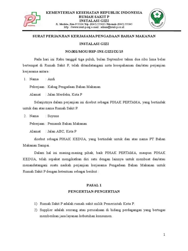 Mabuksakau016 Contoh Surat Perjanjian Kerjasama Supplier Sayuran Mou Supplier Bahan Makanan Selain Sayuran Kebutuhan Ayam Berkualitas Untuk Masakan Juga Penting Sekali Bagi Sebuah Rumah Makan