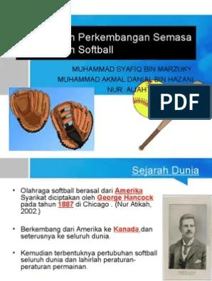 Softball Berasal Dari : softball, berasal, Sejarah, Perkembangan, Permainan, Softball