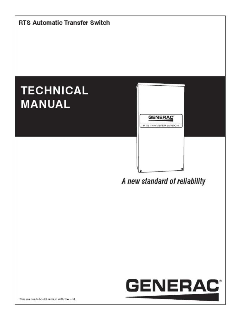 rts automatic transfer switch technical manual generac pdf switch electric generator [ 768 x 1024 Pixel ]