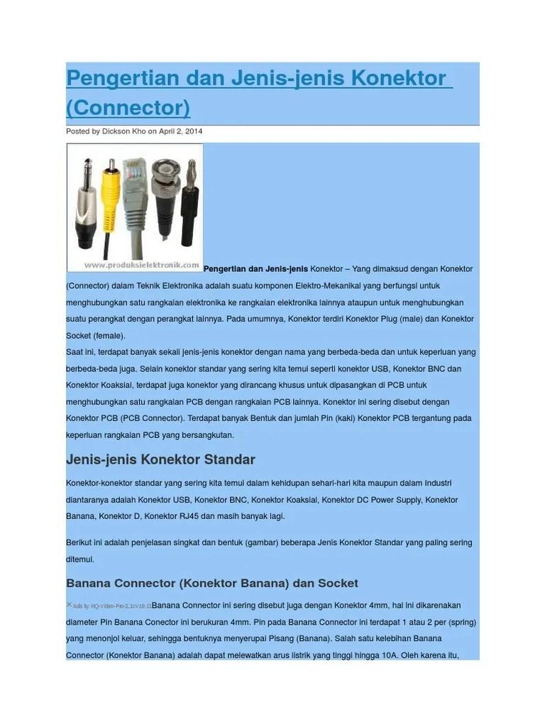 Pengertian Konektor Bnc : pengertian, konektor, Pengertian, Jenis, Konektor.doc