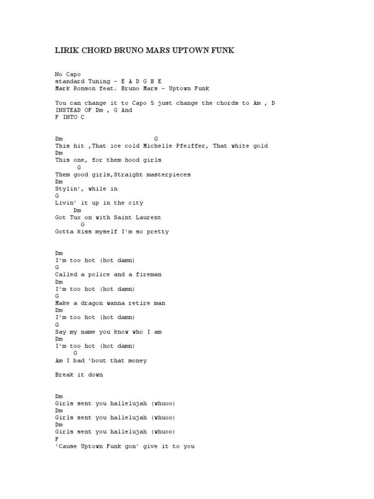 Uptown Girl Lirik : uptown, lirik, Lirik, Chord, Bruno, Uptown, Songs, American