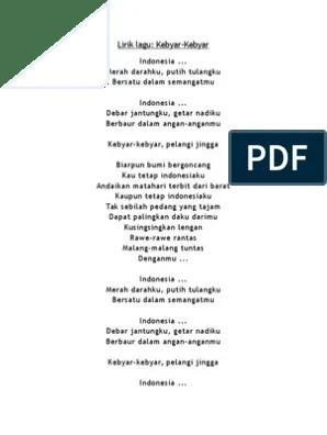 Lagu Indonesia Merah Darahku : indonesia, merah, darahku, Indonesia, Merah, Darahku, Putih, Tulangku, Bersatu, Dalam, Semangatku, Rasanya