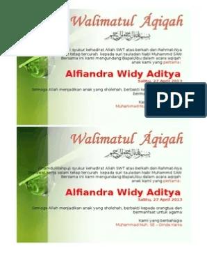 Download Ucapan Aqiqah Di Kotak Nasi Bisa Diedit : download, ucapan, aqiqah, kotak, diedit, Undangan, Aqiqah