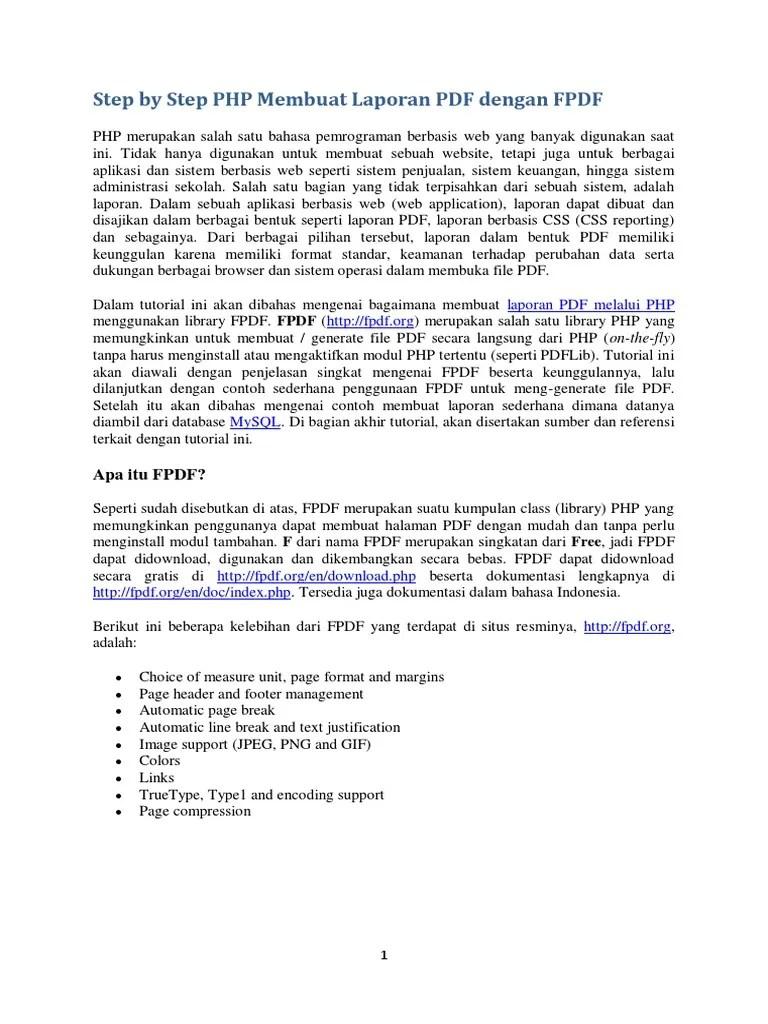 Membuat Laporan Php Dengan Fpdf : membuat, laporan, dengan, Membuat, Laporan, Dengan, Seputar