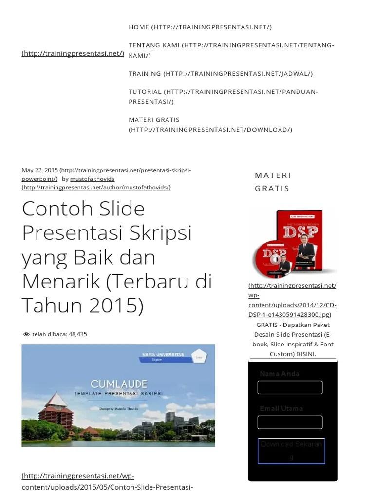 Contoh Presentasi Skripsi : contoh, presentasi, skripsi, Contoh, Slide, Presentasi, Skripsi, Menarik, (Terbaru, Tahun, 2015)