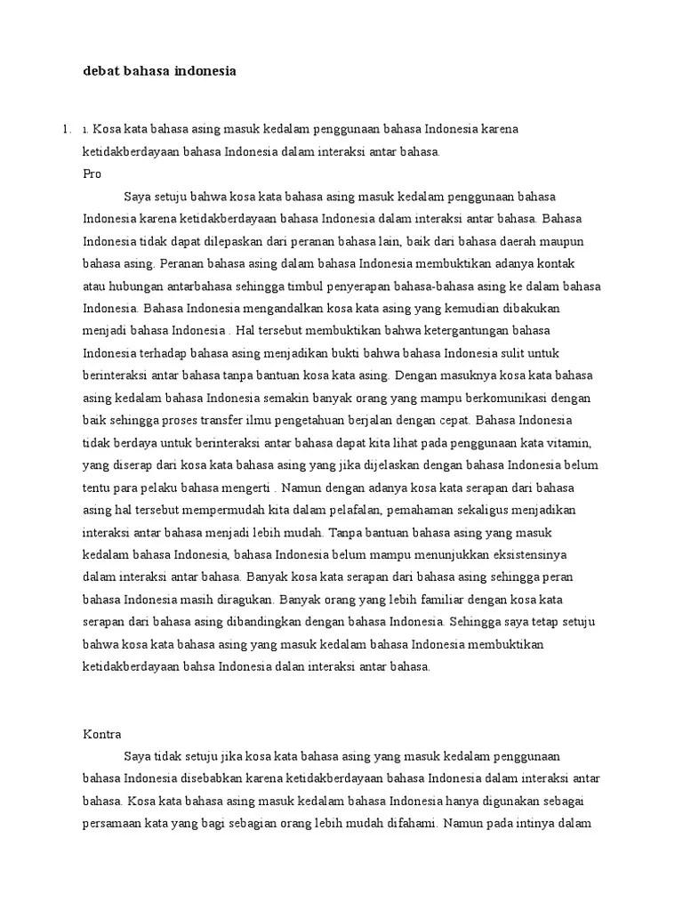 Contoh Teks Debat Beserta Strukturnya : contoh, debat, beserta, strukturnya, Contoh, Debat, Bahasa, Indonesia, Beserta, Strukturnya, Berbagi, Struktur