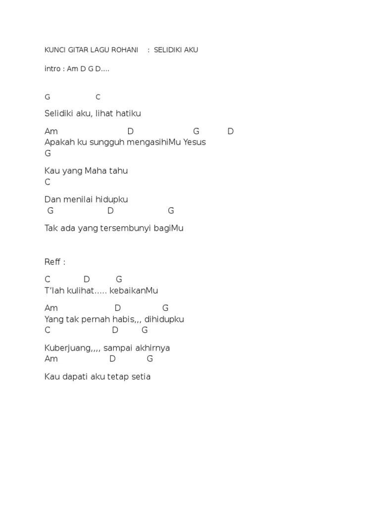 Lirik Lagu Selidiki Aku : lirik, selidiki, KUNCI, GITAR, ROHANI.docx