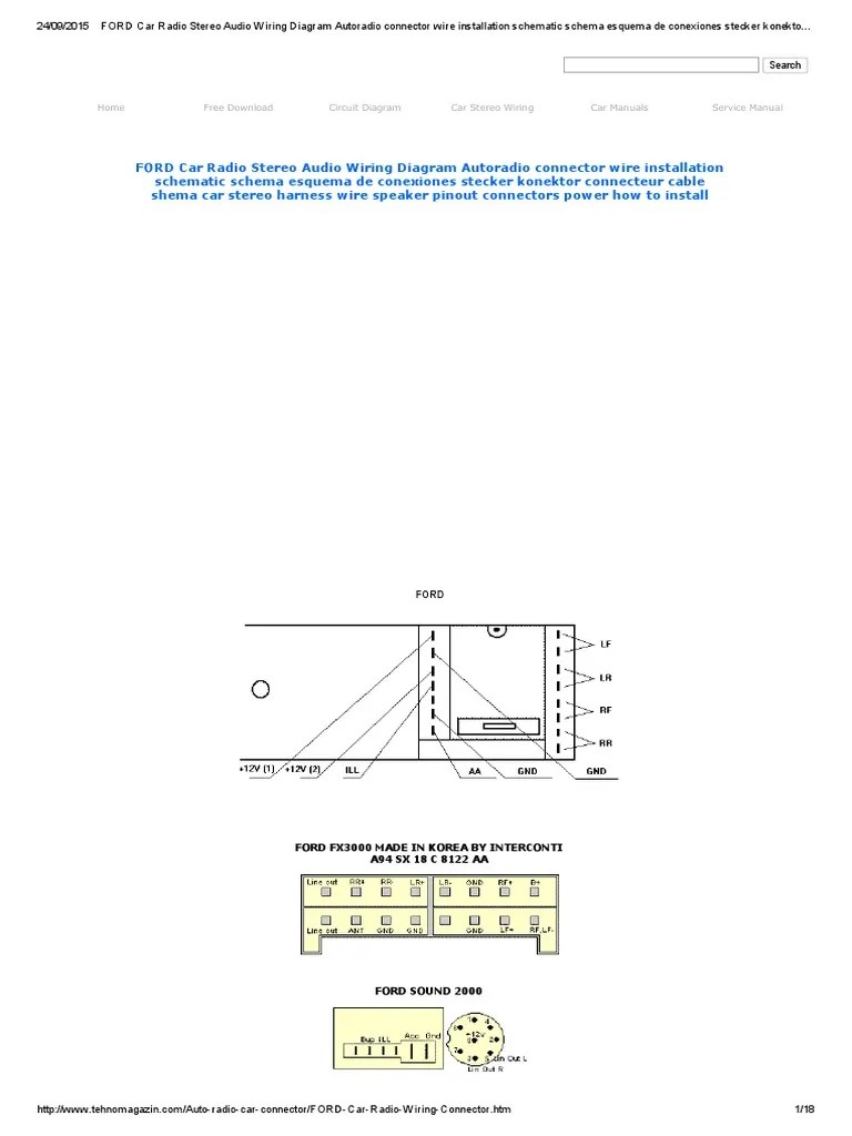 ford car radio stereo audio wiring diagram autoradio connector wire ford wiring harness kits ford car [ 768 x 1024 Pixel ]