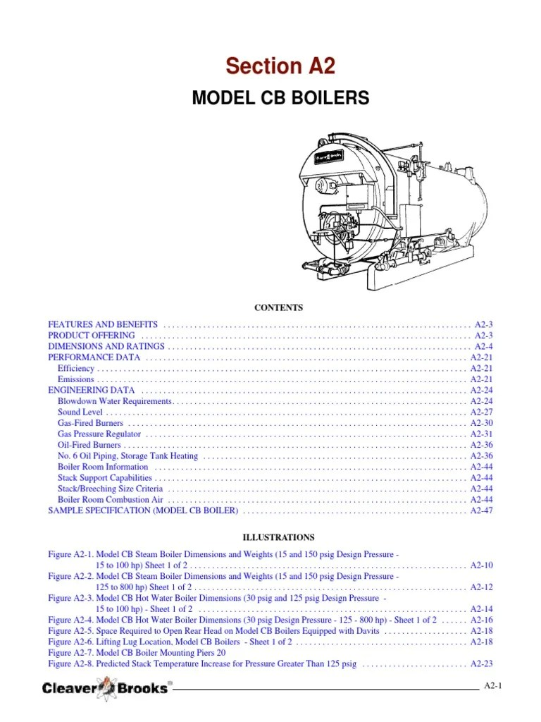 medium resolution of section a2 calderas cleaver brooks especificaciones tecnicas furnace horsepower