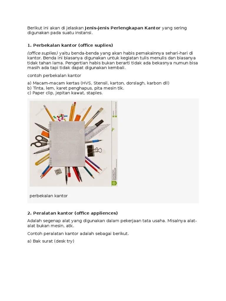 Jenis Perlengkapan Kantor : jenis, perlengkapan, kantor, KLIPING, Kantor