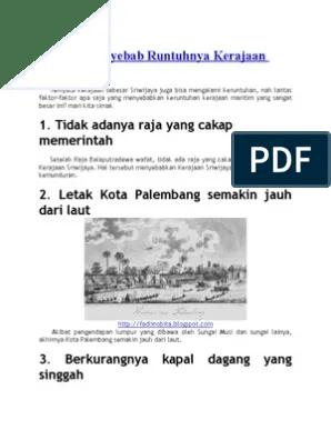 Faktor Penyebab Keruntuhan Kerajaan Sriwijaya : faktor, penyebab, keruntuhan, kerajaan, sriwijaya, Faktor, Penyebab, Runtuhnya, Kerajaan, Sriwijaya