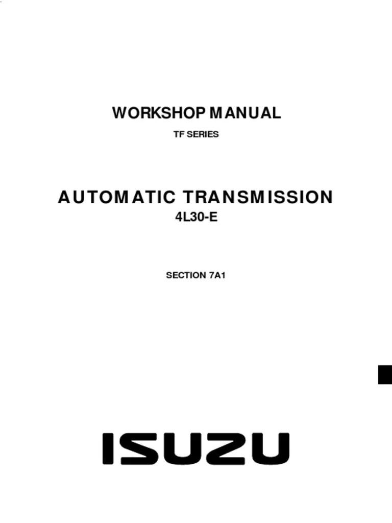 medium resolution of chevrolet automatic transmission 4l30 e isuzu tf4l3 we 889ar service and repair manual automatic transmission transmission mechanics