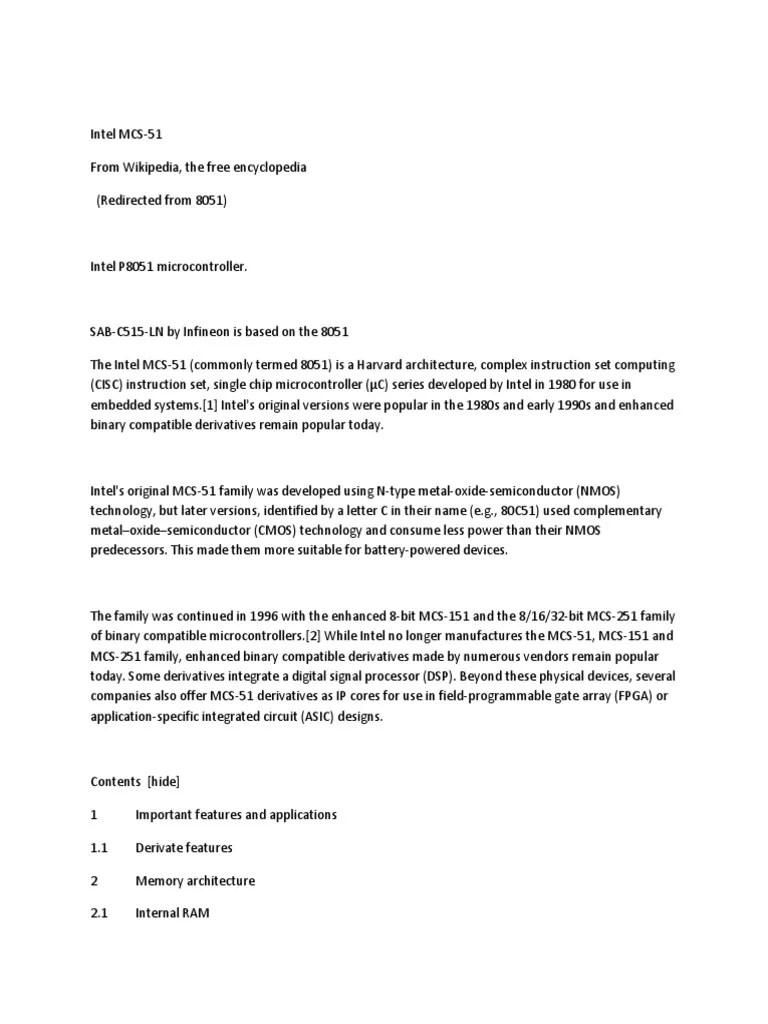 medium resolution of intel mcs 8051 description electrical engineering areas of computer science