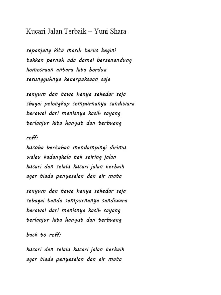 Lirik Antara Ada Dan Tiada : lirik, antara, tiada, Lirik, Indonesi
