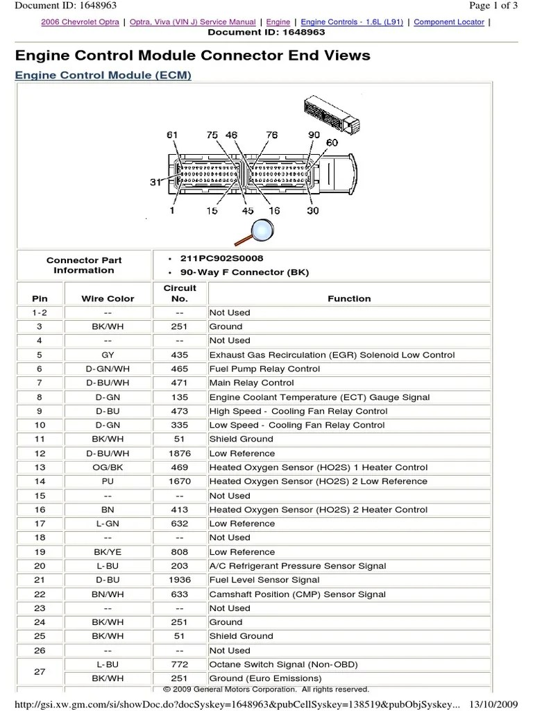 hight resolution of 2006 chevy optra wiring diagram