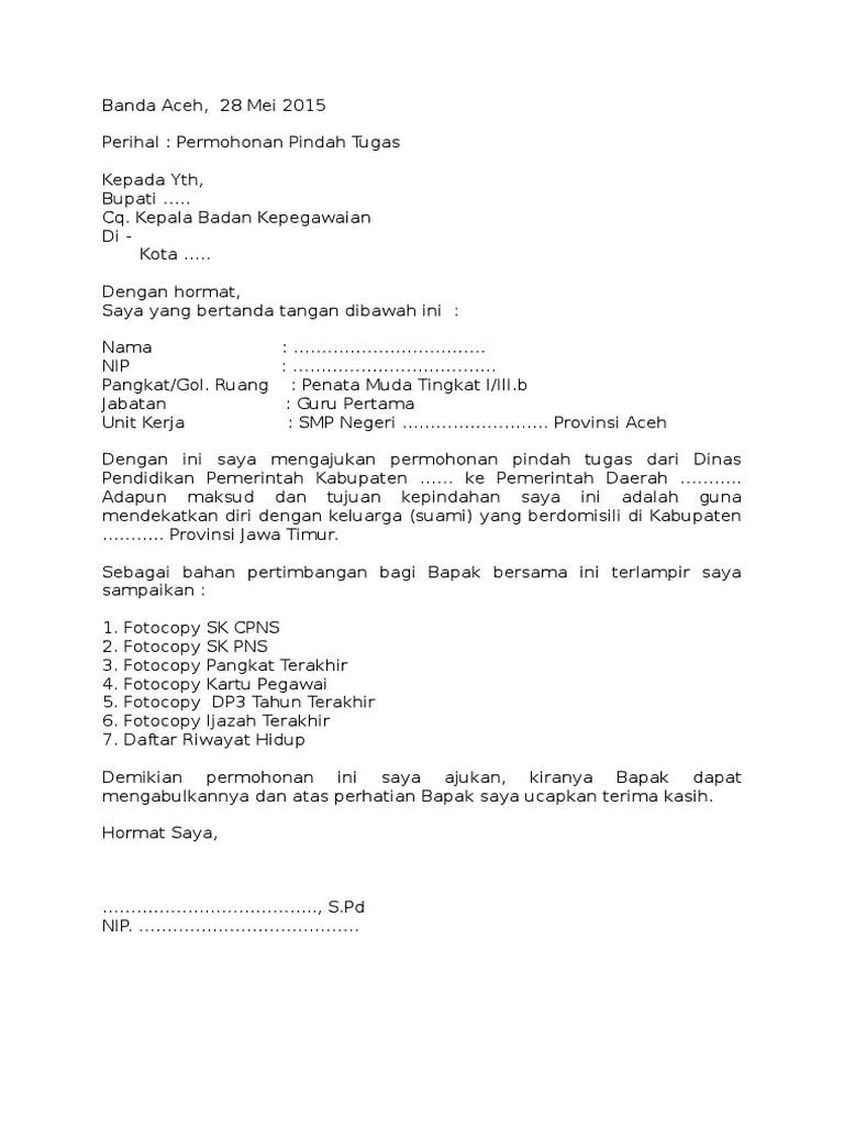 Contoh Surat Mutasi Security Contoh Surat Terbaru Cute766