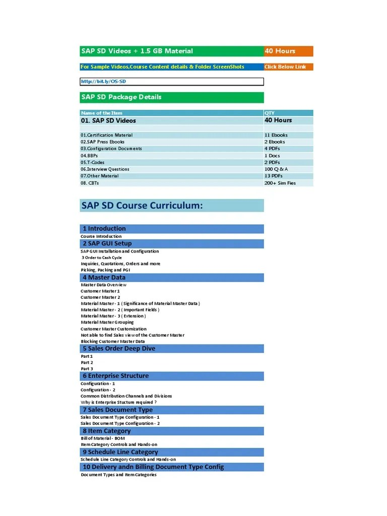 hight resolution of sap sd course content details invoice information technology management