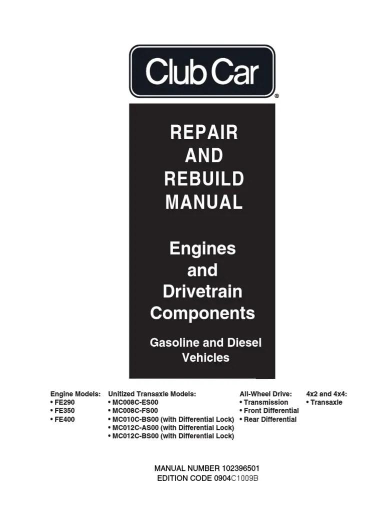 club car engine drivetrain repair rebuild axle transmission mechanics  [ 768 x 1024 Pixel ]