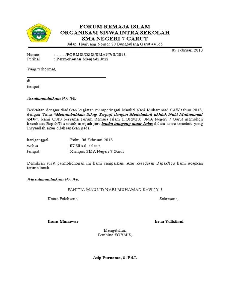Surat Permohonan Juri : surat, permohonan, Surat, Permohonan