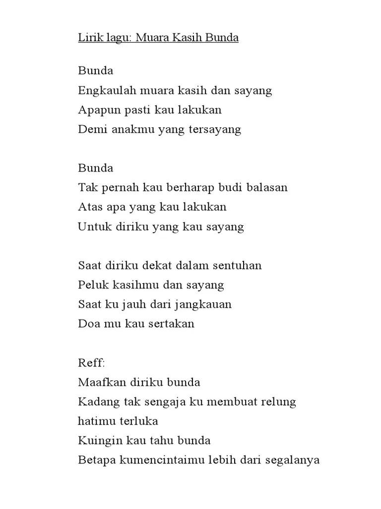Lirik Lagu Muara Kasih Bunda : lirik, muara, kasih, bunda, Lirik, Bunda