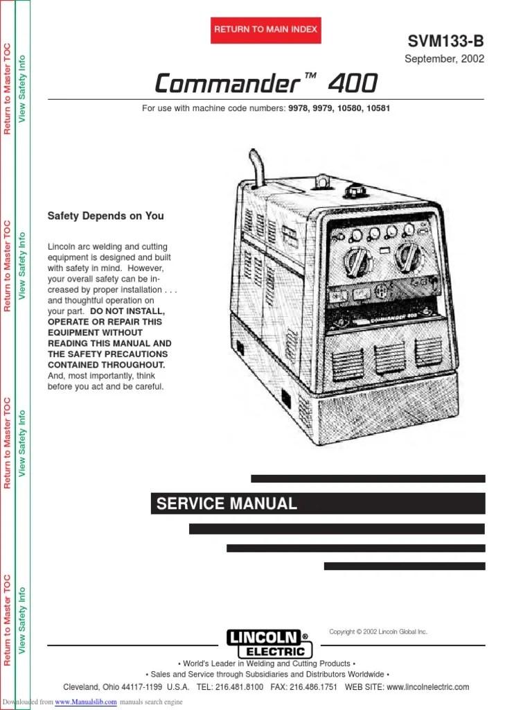 lincoln 300 commander wiring diagram [ 768 x 1024 Pixel ]