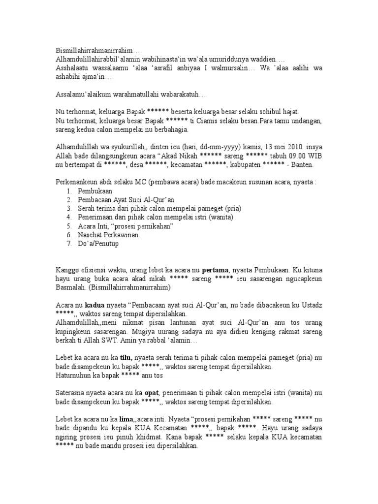 Mc Bahasa Sunda : bahasa, sunda, Contoh, Naskah, Bahasa, Sunda, Cute766