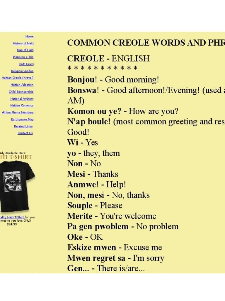 Haitian Words : haitian, words, Haitian, Creole, Dictionaire, Symbols, Languages