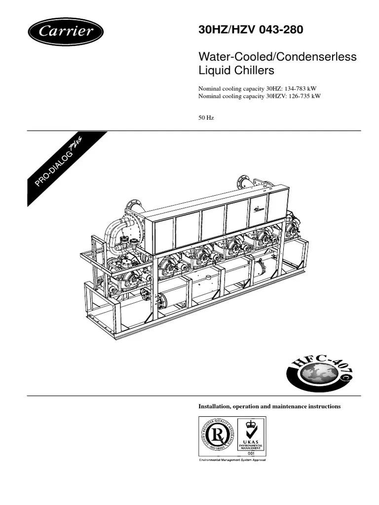 carrier 30rb wiring diagram 1998 dodge durango infinity radio manual for chiller 30hx books 30hz hzv eng iom pdf valve switch york yt