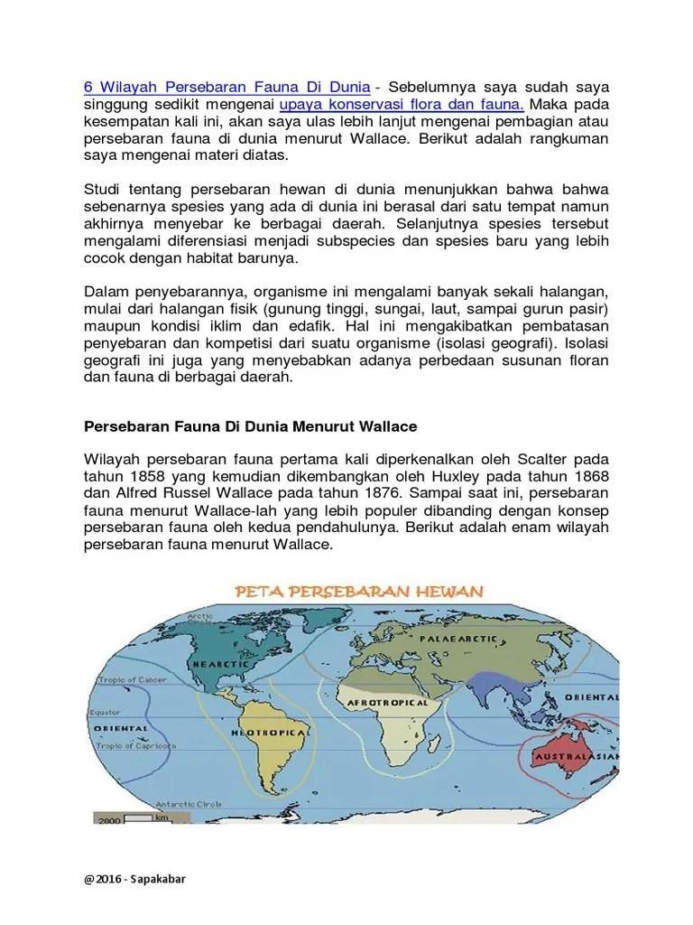 Persebaran Fauna Paleartik : persebaran, fauna, paleartik, Persebaran, Fauna, Dunia