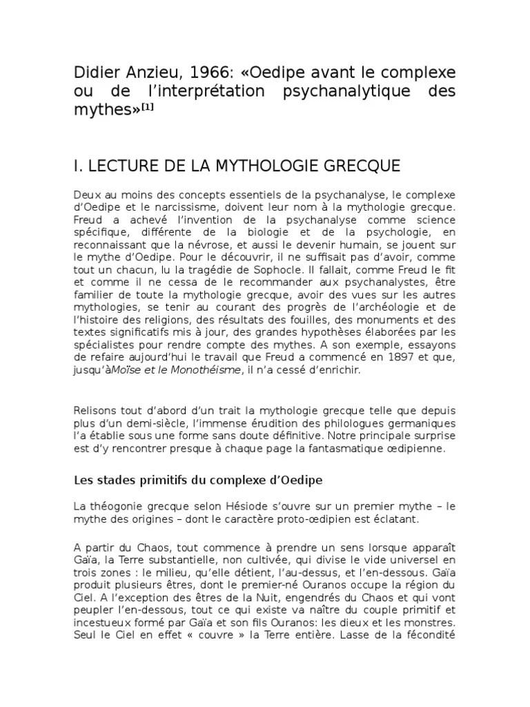Mythe D Oedipe Résumé Très Court : mythe, oedipe, résumé, très, court, Didier, Anzieu, Oedipe, Avant, Complexe, Agamemnon, Œdipe