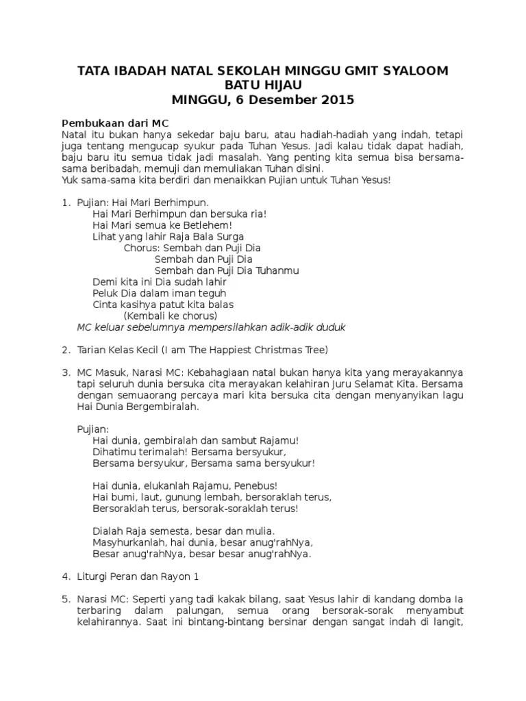 Liturgi Natal Kreatif Sekolah Minggu : liturgi, natal, kreatif, sekolah, minggu, Ibadah, Natal, Sekolah, Minggu, Syaloom, Hijau