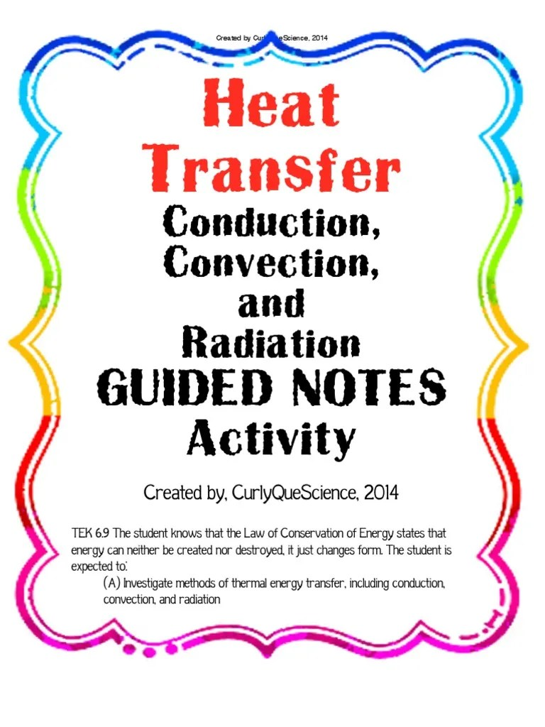 medium resolution of heattransferconductionconvectionradiationguidednotes   Heat   Heat Transfer