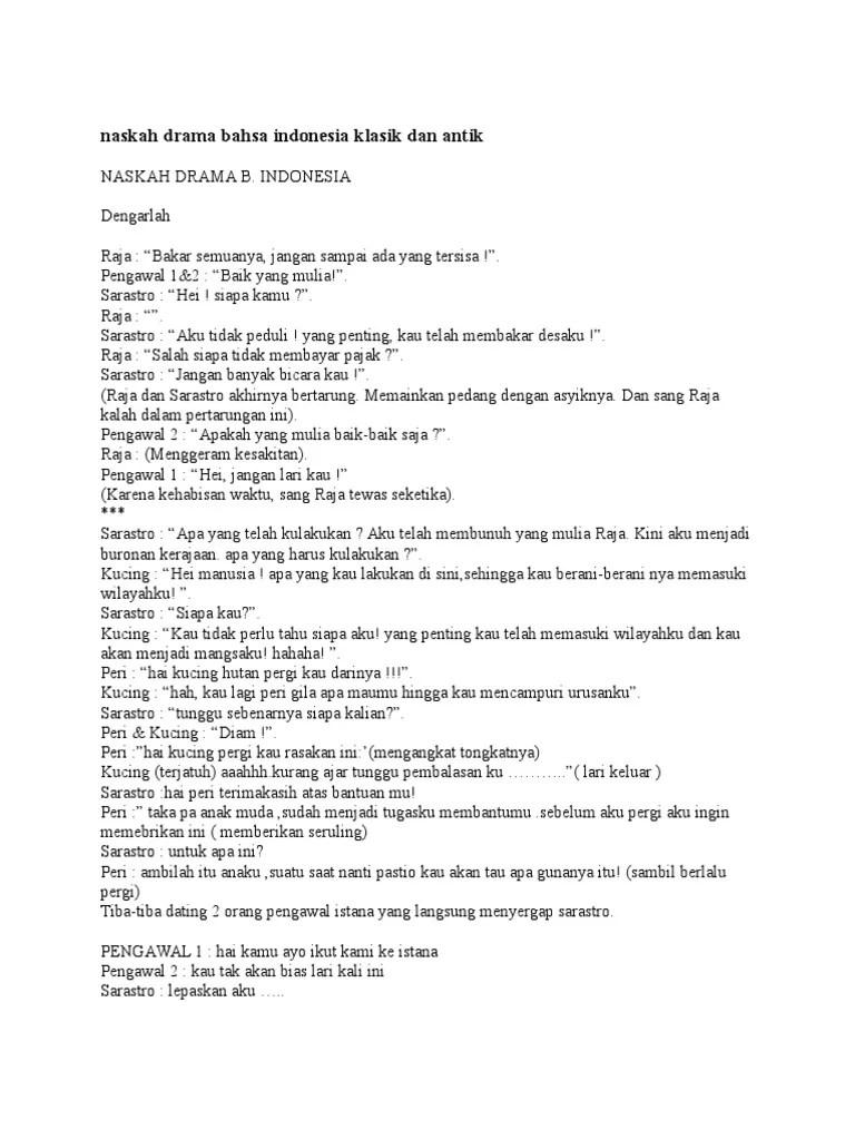 Naskah Drama Klasik : naskah, drama, klasik, Naskah, Drama, Bahsa, Indonesia, Klasik, Antik