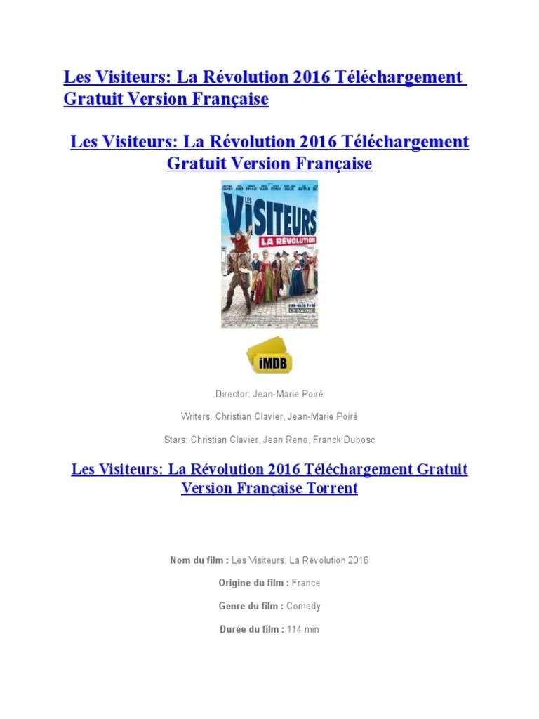 Les Visiteurs 1 Gratuit : visiteurs, gratuit, Visiteurs, Révolution, Téléchargement, Gratuit, Version, Française, Loisirs