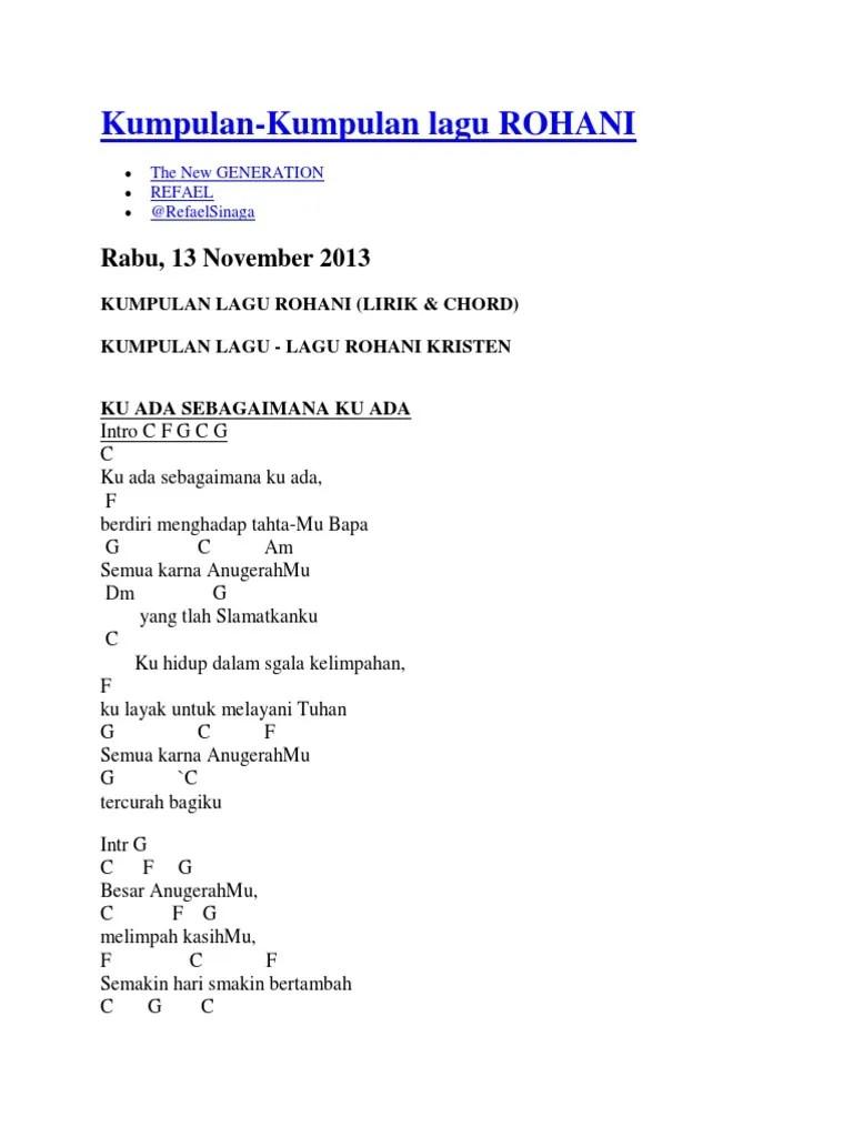 Chord Lagu Rohani Nikita : chord, rohani, nikita, Chord, Gitar, Rohani, Mudah, Untuk, Pemula, Kenangan