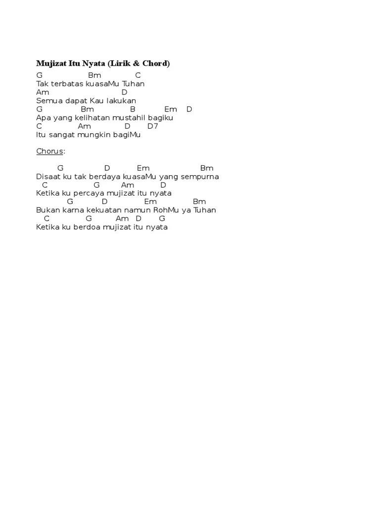 Chord Gitar Mujizat Itu Nyata : chord, gitar, mujizat, nyata, Terbatas, Kuasamu, Tuhan, Chord, Sekali