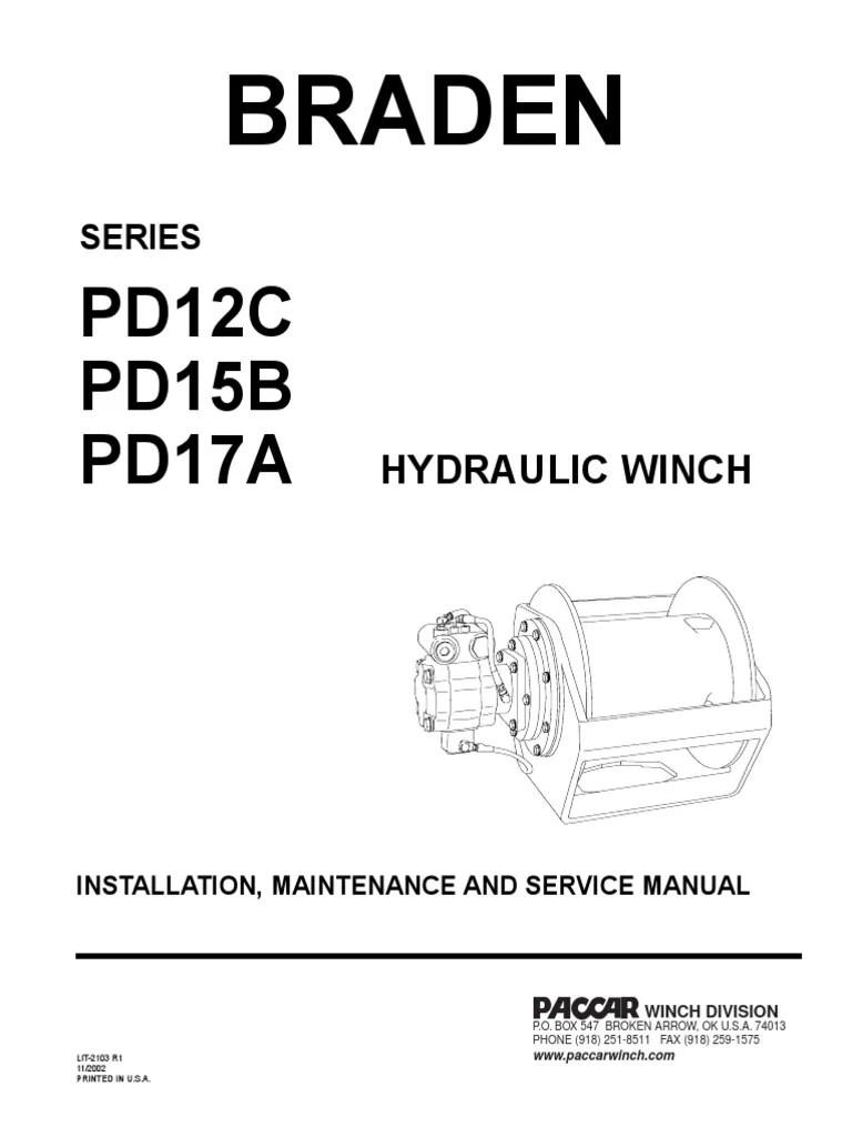 braden pd series hydraulic winch brake valve rh scribd com braden pd12c winch braden winch parts [ 768 x 1024 Pixel ]