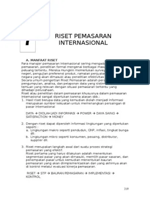 Ilustrasi Proses Riset Pasar : ilustrasi, proses, riset, pasar, Riset, Pemasaran, Internasional