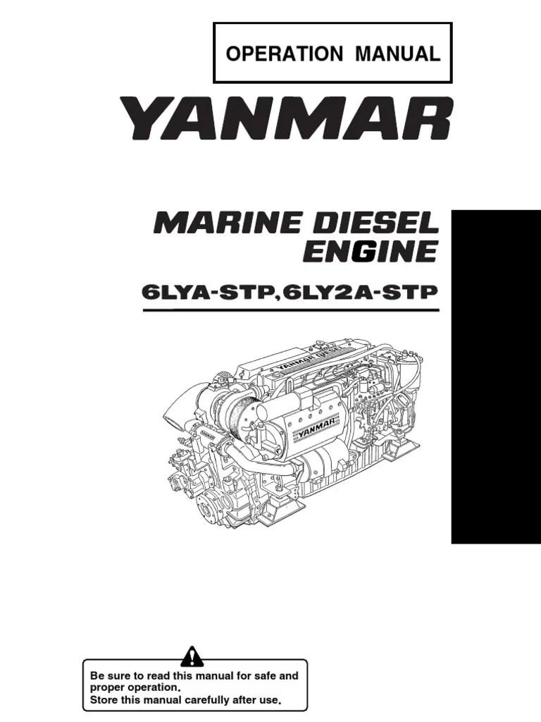 medium resolution of yanmar operation manual marine diesel engine 6lya stp 6ly2a stp turbocharger hvac