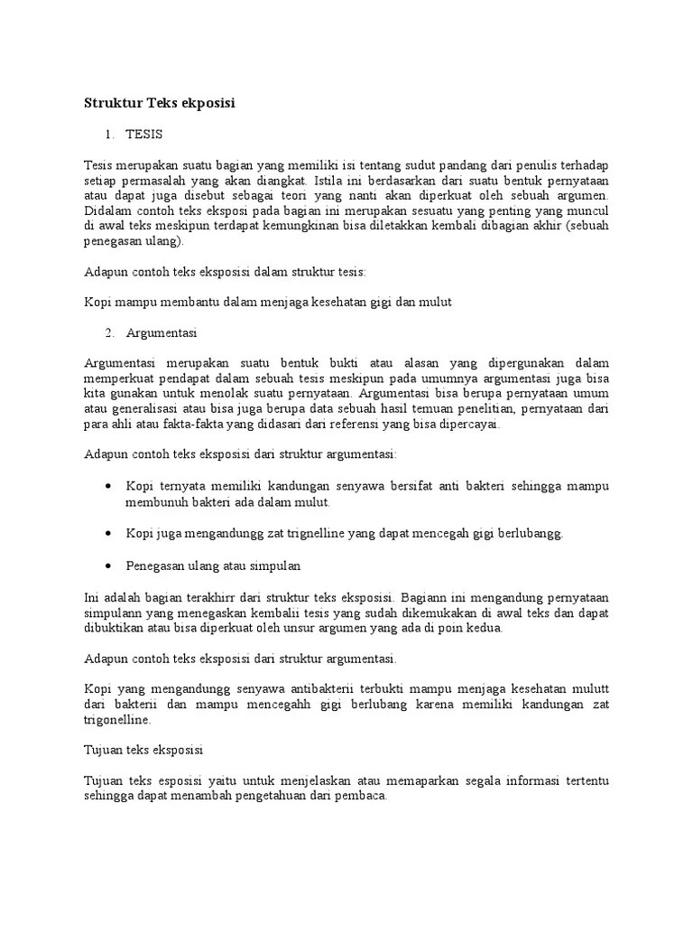 Struktur Teks Argumentasi : struktur, argumentasi, Struktur, Ekposisi