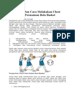 Cara Mengoper Bola Basket : mengoper, basket