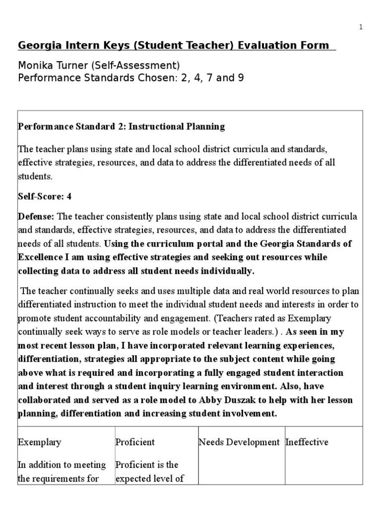 Performance Self Evaluation Form ] | Performance Self Evaluation ...