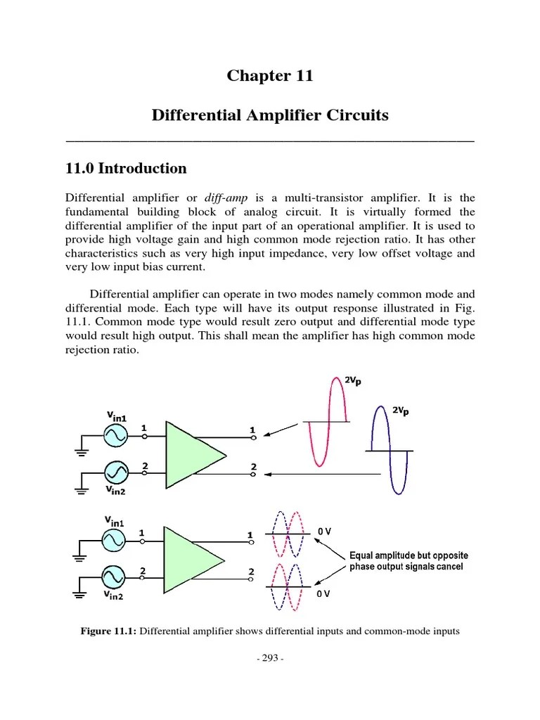 medium resolution of chapter 11 differential amplifier circuits amplifier bipolar junction transistor
