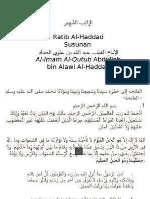 Ratib Al Haddad Pdf : ratib, haddad, Ratib, Haddad