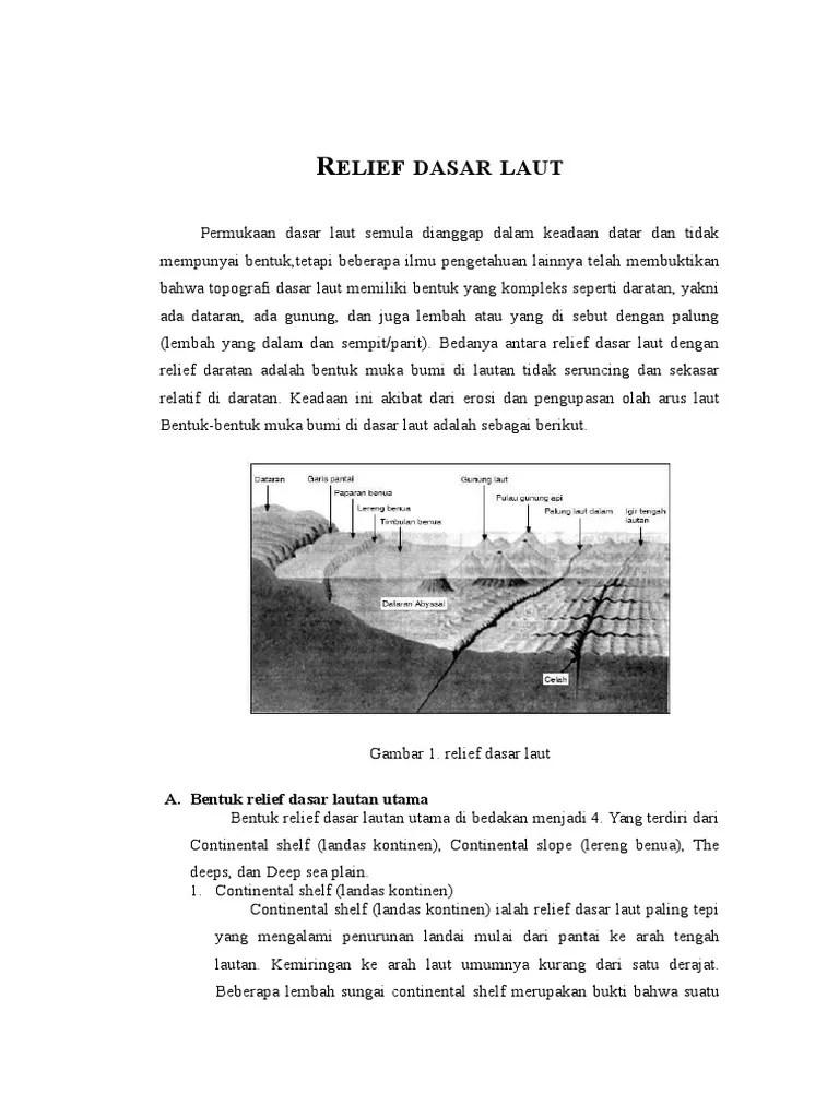 Relief Lautan : relief, lautan, Relief, Dasar