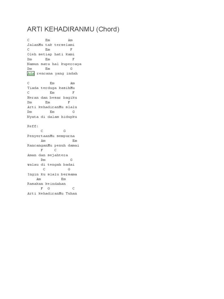 Lirik Lagu Arti Kehadiranmu : lirik, kehadiranmu, Kehadiranmu, Greja