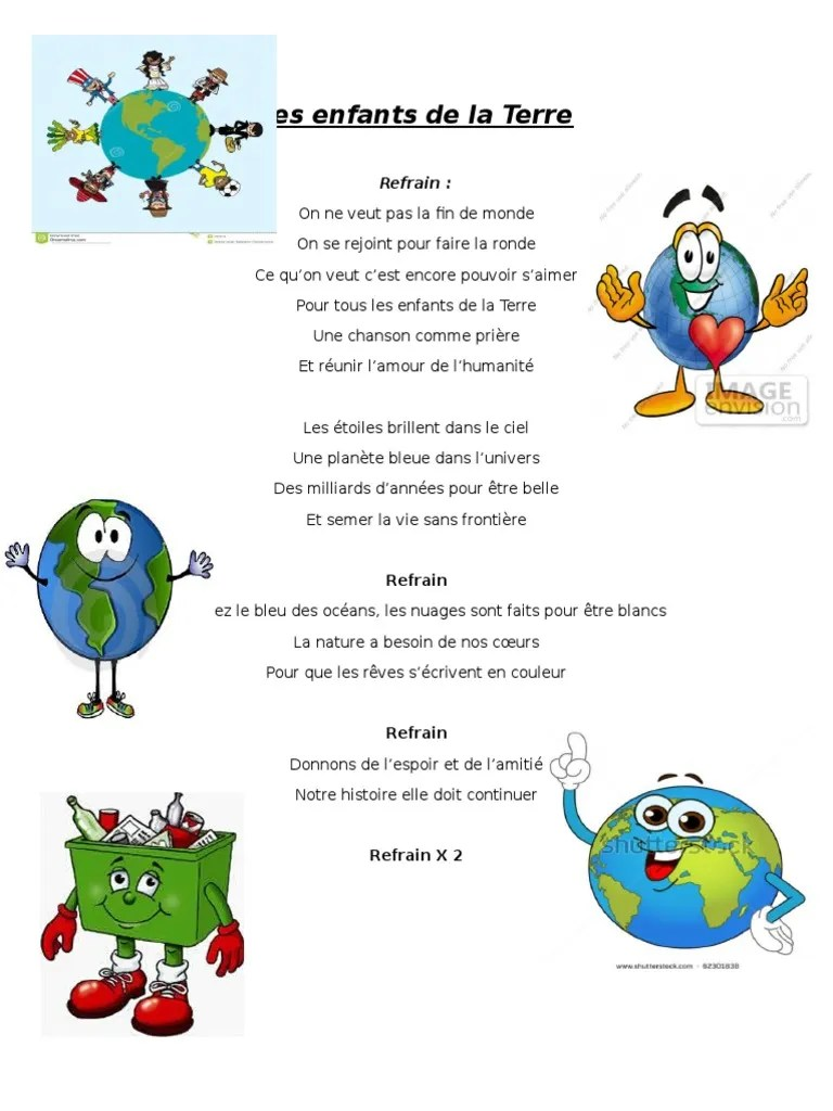 Les Enfants De La Terre : enfants, terre, Enfants, Terre:, Refrain