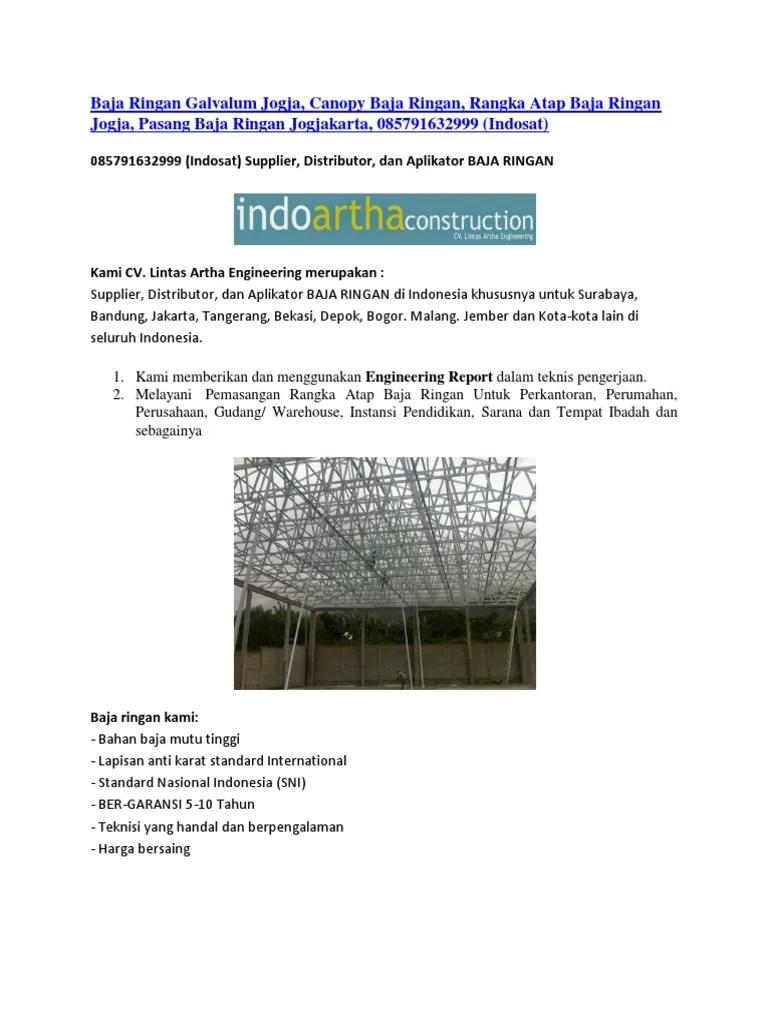 harga rangka baja ringan jogja galvalum canopy atap