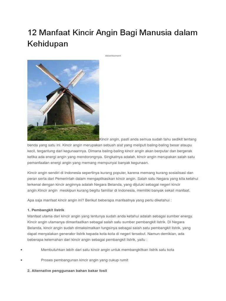 Perubahan Energi Kincir Air - Coretan