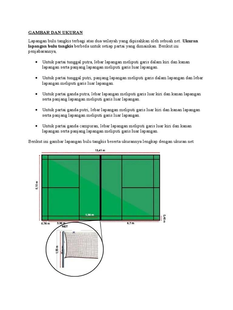 Lebar Dan Panjang Lapangan Bulu Tangkis : lebar, panjang, lapangan, tangkis, Gambar, Ukuran, Lapangan, Tangkis